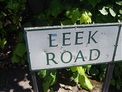 "Leek road - or should that be ""Eeek Road""?"