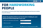 screen capture of for hardworking people website